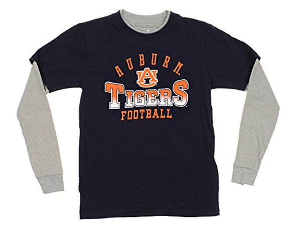 NCAA Youth/Kids Auburn Tigers Faux Layer Long Sleeve Tee