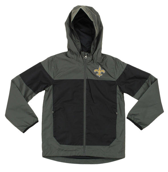 NFL Youth New Orleans Saints Light Weight All Elements Jacket , Grey