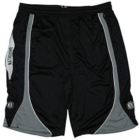 Zipway NBA Big Men's Brooklyn Nets Team Color Basketball Shorts, Black