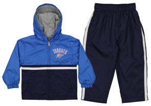 New York Knicks NBA Boys Infants Wind Suit Jacket /& Pants Set Blue /& Black
