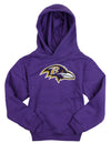 NFL Football Youth Girls Baltimore Ravens Logo Hoodie - Purple