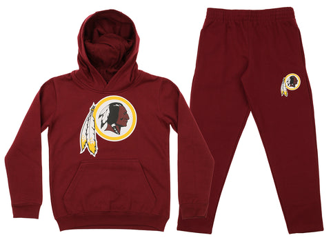 Outerstuff NFL Youth Washington Redskins Team Fleece Hoodie and Pant Set
