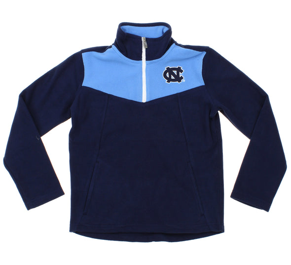 NCAA Youth North Carolina Tar Heels Break Point 1/4 Zip Pullover Sweater, Navy