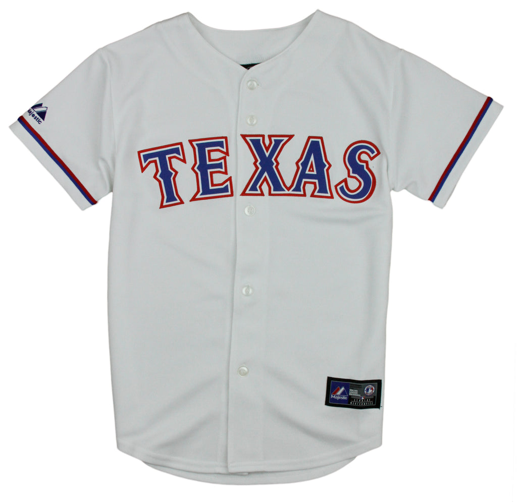 fc5370aa7 Majestic MLB Baseball Youth Boys Texas Rangers Blank Home Replica Jersey