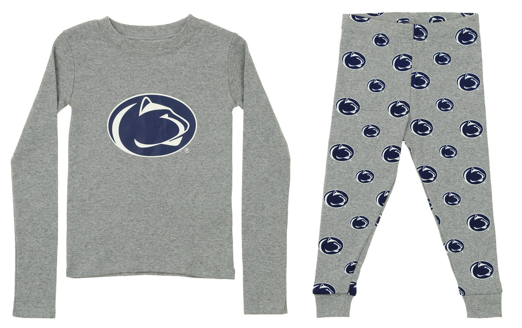 e45ce5b5 OuterStuff NCAA Toddler Penn State Nittany Lions Sleepwear Long Sleeve Tee  & Pant Set