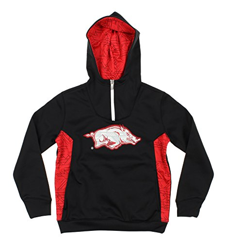 NCAA Youth Arkansas Razorbacks Quarter Zip Pullover Hoodie