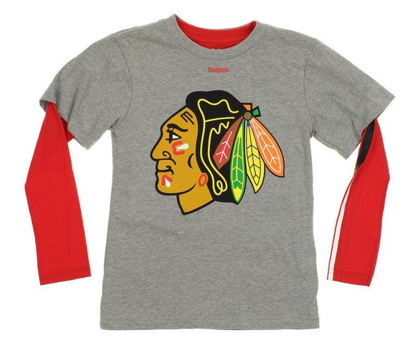 Reebok NHL Youth Chicago Blackhawks 3 In 1 Tee Combo Set