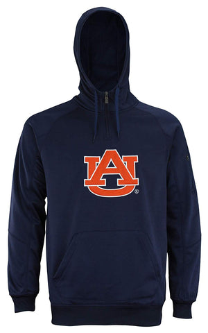 "Outerstuff Men's NCAA Auburn Tigers ""Fan Basic"" 1/4 Zip Hoodie, Navy"