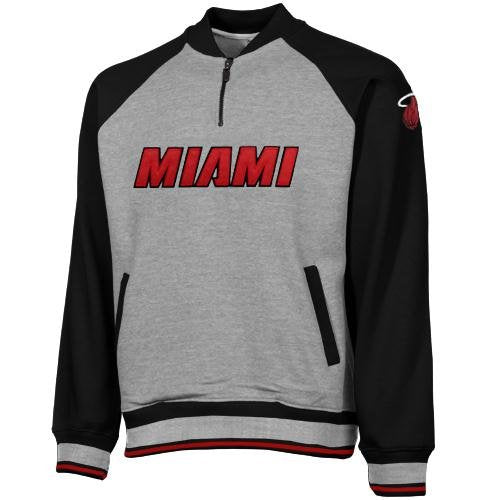 Zipway NBA Basketball Men's Miami Heat Pullover Fleece Sweatshirt, Gray