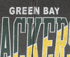 Green Bay Packers NFL Football Mens Split Formation Fleece Hoodie, Gray