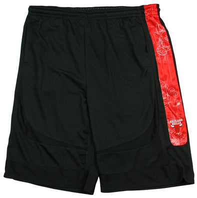 Zipway NBA Basketball Big & Tall Men's Chicago Bulls Blueprint Shorts - Black