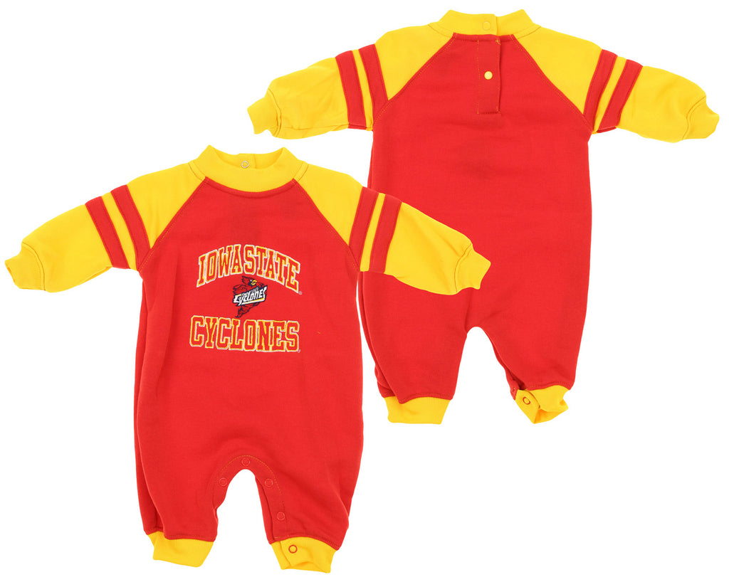 buy online 81055 97e83 NCAA Infant Iowa State Cyclones Fleece Coverall, Red   Gold
