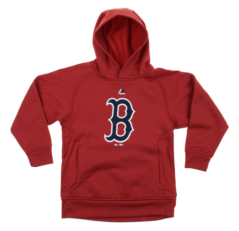 Majestic Athletic MLB Youth Boston Red Sox FLC Baseball Team Logo Pullover Hoodie