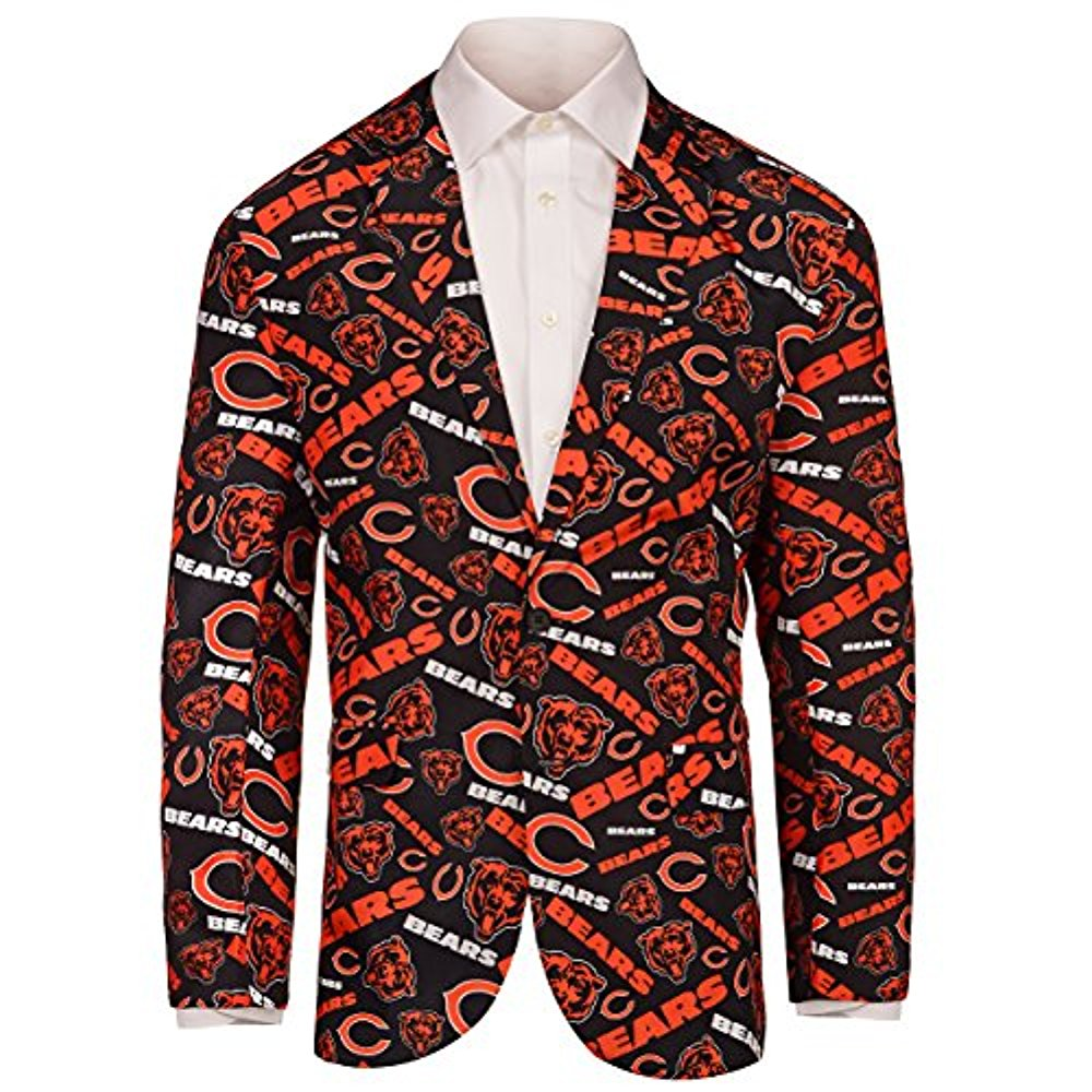 9535579cfcf Forever Collectables NFL Men s Chicago Bears Ugly Business Jacket ...