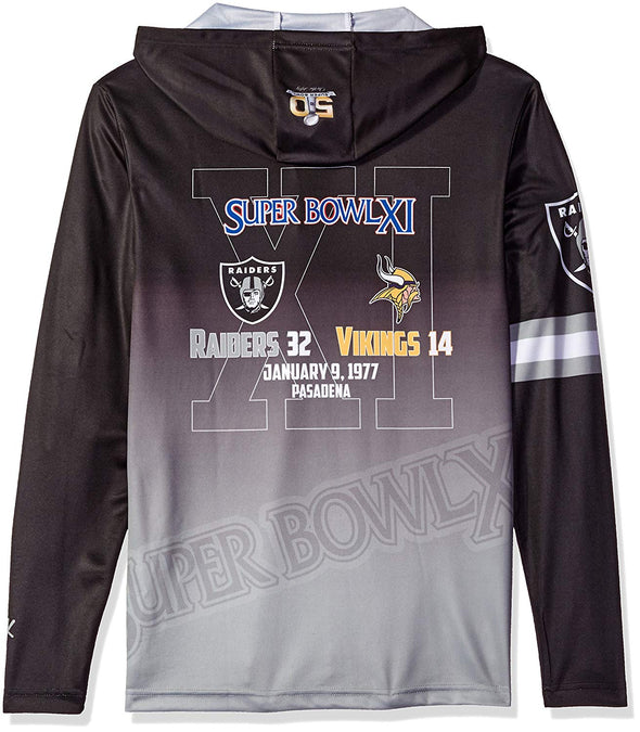 Forever Collectibles NFL Men's Oakland Raiders Super Bowl Champions Hooded Tee