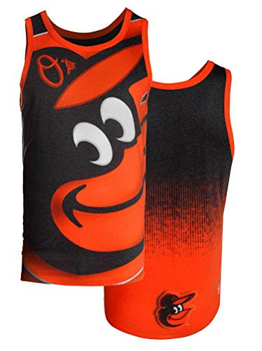 MLB Men's Baltimore Orioles Big Logo Tank Top Shirt, Black/Orange