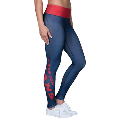 Forever Collectibles NFL Women's Houston Texans Marble Wordmark Leggings