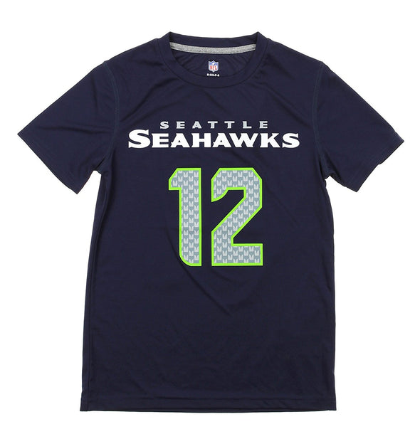 NFL Youth Seattle Seahawks #12 Fan Performace Tee, Navy