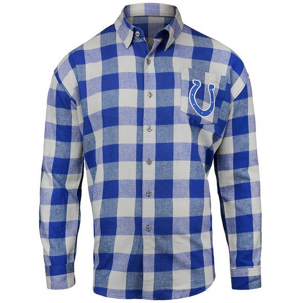Forever Collectibles NFL Men's Indianapolis Colts Check Long Sleeve Flannel Shirt