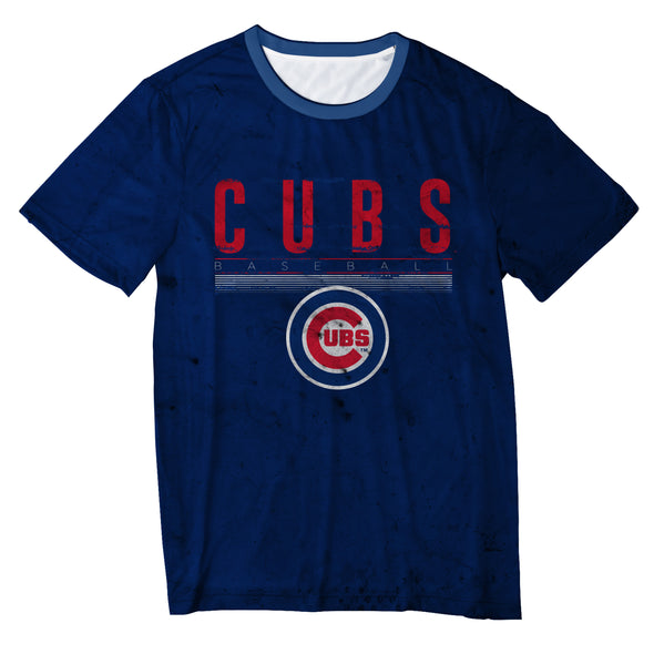FOCO MLS Men's Chicago Cubs Big Logo Half Tone Tee