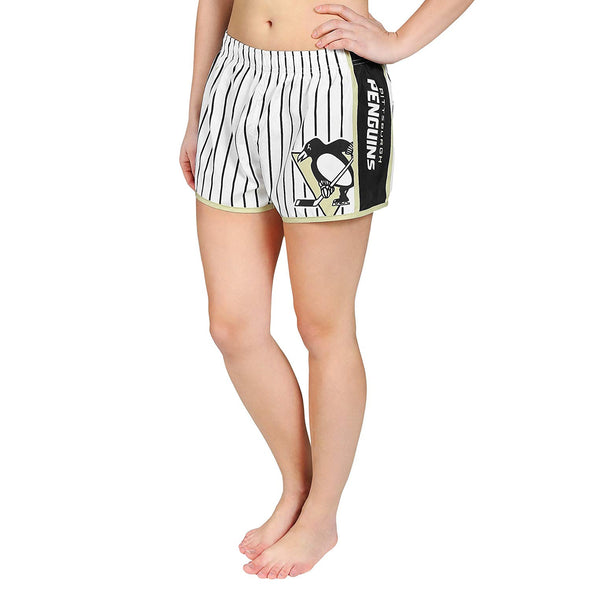Forever Collectibles NHL Women's Pittsburgh Penguins Pinstripe Shorts