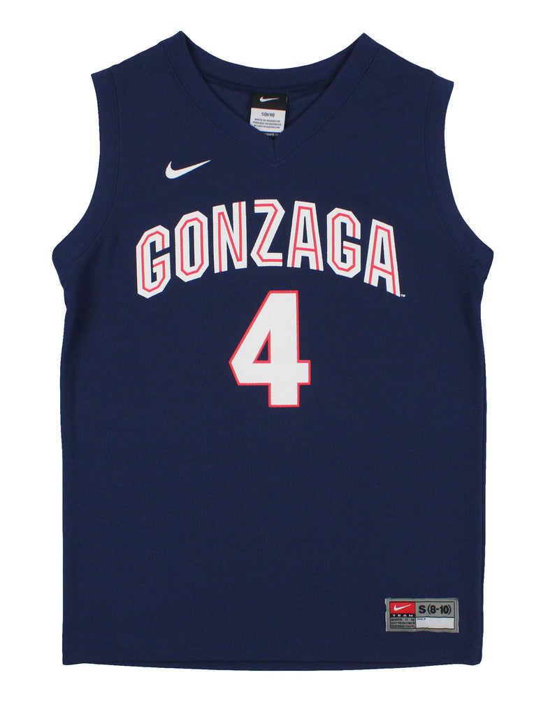 meet 82446 45753 Nike NCAA Youth Boys Gonzaga Bulldogs #4 Basketball Jersey, Navy