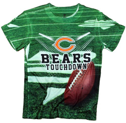 Chicago Bears TOUCHDOWN NFL Youth T-Shirt Shirt, Green