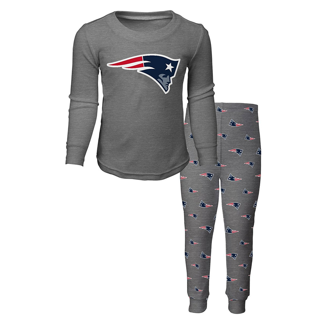 a22bb670 OuterStuff NFL Kids New England Patriots Long Sleeve Tee & Pant Sleep Set