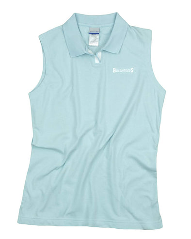 Reebok NFL Women's Tampa Bay Buccaneers Sleeveless Johnny Collar Polo, Pale Blue