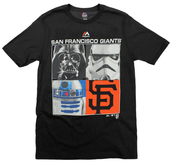 MLB Youth San Francisco Star Wars Main Character T-Shirt, Black