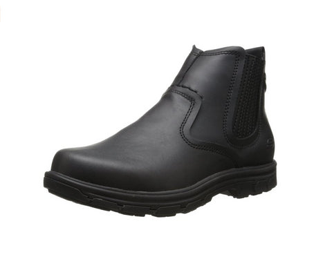 Skechers Men's Segment-Dorton Chukka Boot, Black Leather