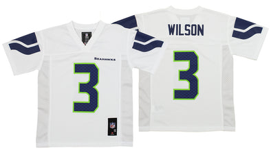 OuterStuff NFL Youth Seattle Seahawks Russell Wilson #3 Alternate Replica Jersey, White