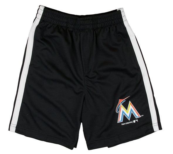 MLB Baseball Kids / Youth Miami Marlins Team Shorts - Black