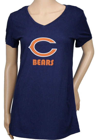 Chicago Bears NFL Womens Maternity Short Sleeve T-Shirt, Navy