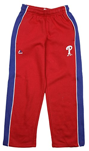 Outerstuff MLB Baseball Youth Philadelphia Phillies Stadium Wear Fleece Pants, Red
