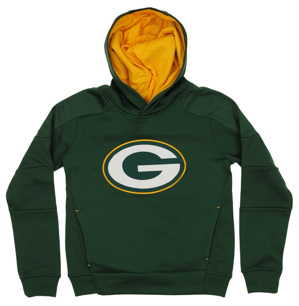OuterStuff NFL Youth Green Bay Packers Mach Speed Pullover Hoodie, Green