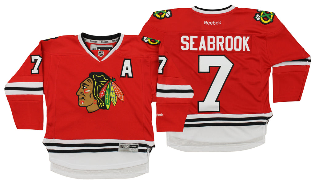 the latest bea43 00aa0 Reebok NHL Kids Chicago Blackhawks Brent Seabrook #7 Player Jersey, Red