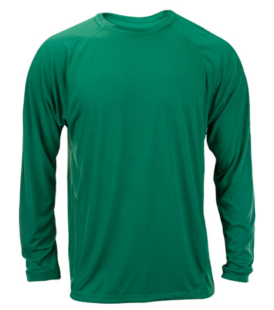Adidas Big Mens Long Sleeve Climalite Shirt, Green
