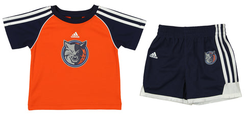 38ae47fe6 Adidas NBA Toddlers Charlotte Bobcats Short Sleeve Tee and Shorts Set,  Orange