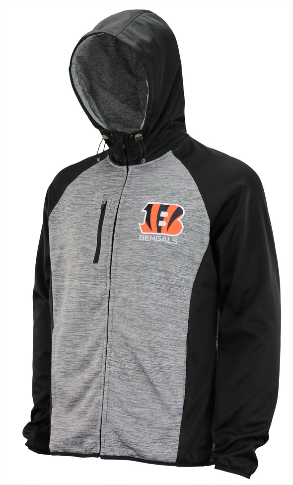 G-III Sports Men's NFL Cincinnati Bengals Solid Fleece Full Zip Hooded Jacket