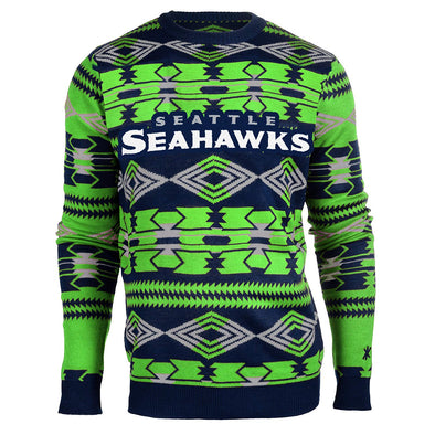 Forever Collectibles NFL Men's Seattle Seahawks 2015 Aztec Ugly Sweater