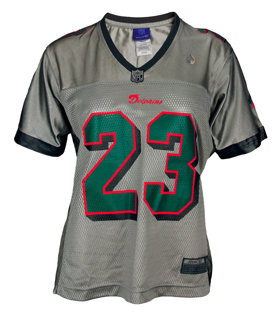 newest collection 33530 822d1 Reebok Womens NFL Football Miami Dolphins BROWN # 23 Replica ...