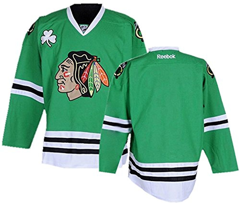 93891d7e0ad8f Reebok NHL Men's Chicago Blackhawks St. Patrick's Day Premier Jersey