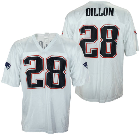 dc4ee582d NFL Football Men s New England Patriots Corey Dillon  28 Dazzle Jersey -  White