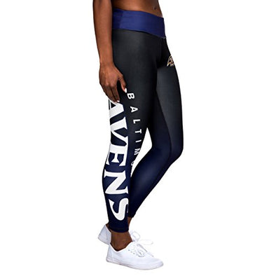 Forever Collectibles NFL Women's Baltimore Ravens Gradient 2.0 Wordmark Leggings
