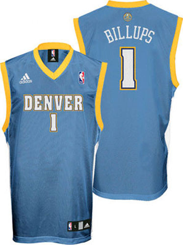 NBA Denver Nuggets Chauncey Billups #1 Adidas Replica Jersey, Sky Blue