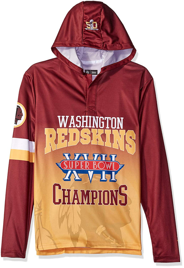 Forever Collectibles NFL Men's Washington Redskins Super Bowl Champions Hooded Tee