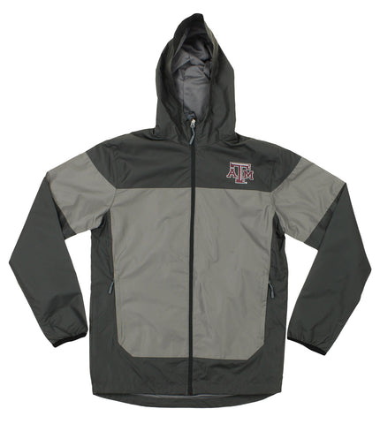 NCAA Men's Texas A&M Aggies Light Weight All Elements Hooded Jacket, Grey