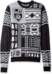 designer fashion dbe2f 936fa Klew NHL Men's Los Angeles Kings Patches Ugly Sweater, Black