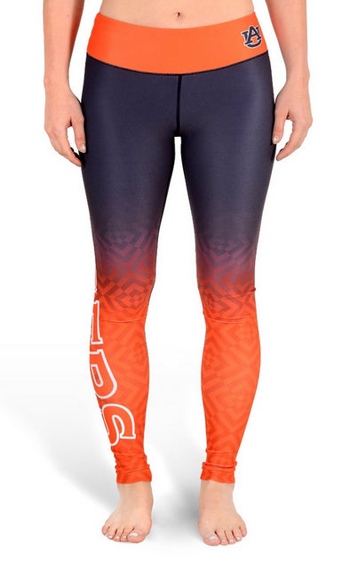 NCAA Women's Auburn Tigers Gradient Print Leggings, Navy